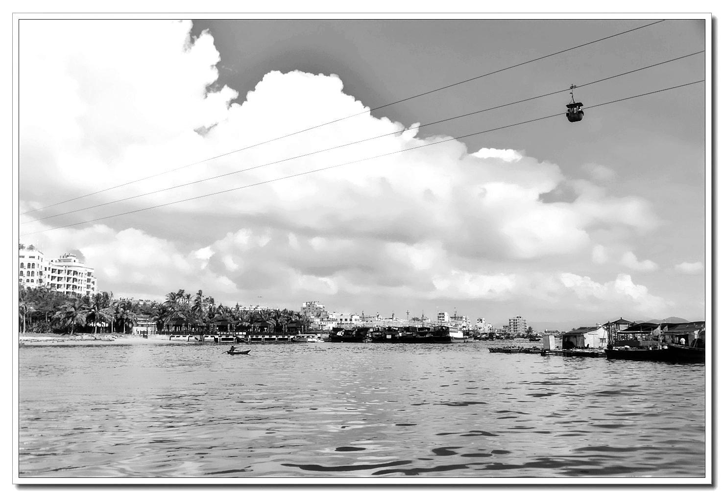 老张喜爱摄影作品:跨海去猴岛的几条线