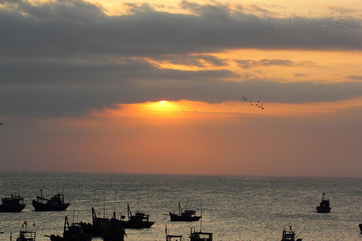 h2o教徒作品:夕照渔港(组图)