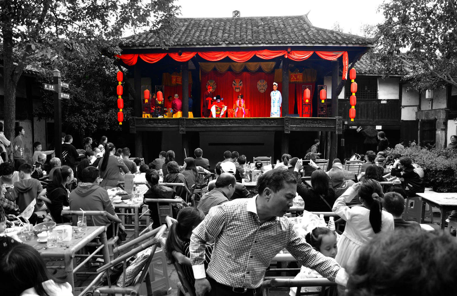 狮子123作品:戏楼茶馆