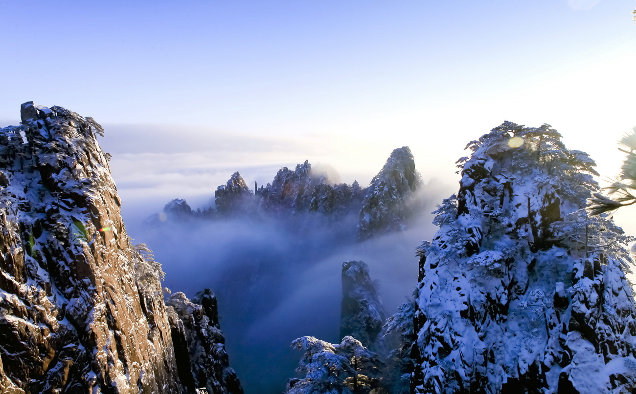 nanqzhen作品:黄山雪景