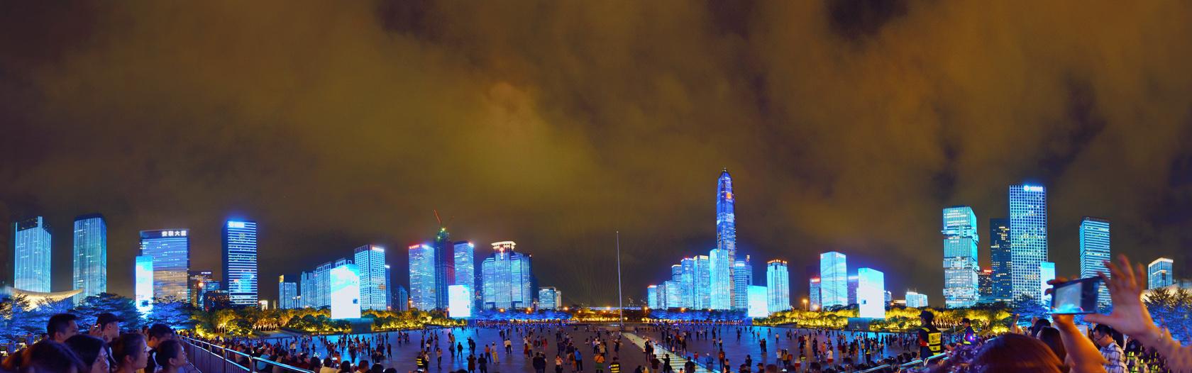新摄影的胖老头作品:深圳灯光秀3