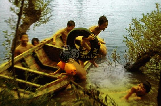 江渚渔翁作品:水乡印象-金色童年