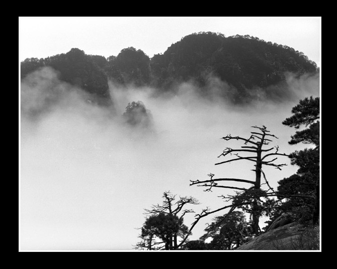 流沙作品:黑白黄山01