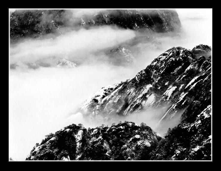 流沙作品:黑白黄山02