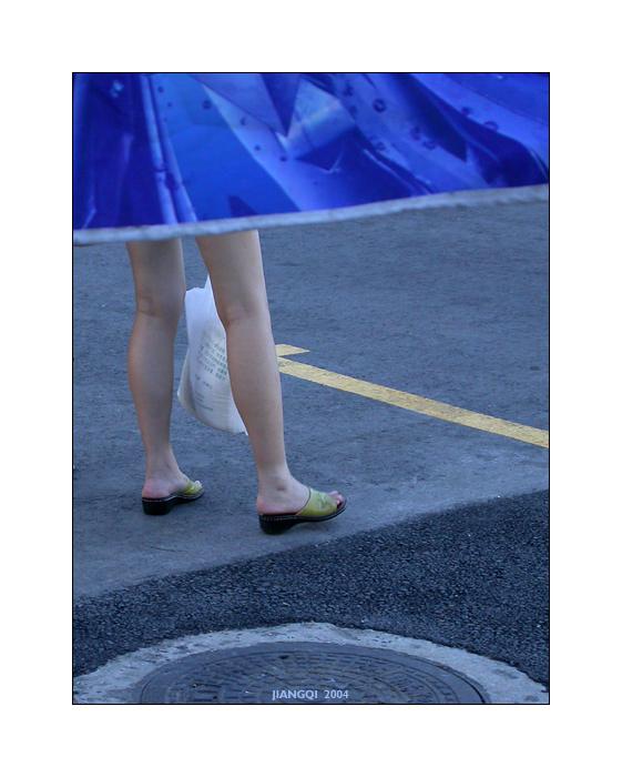 大可作品:蓝色-裙子