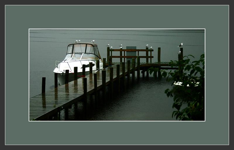 城市乡巴佬作品:湖区秋雨