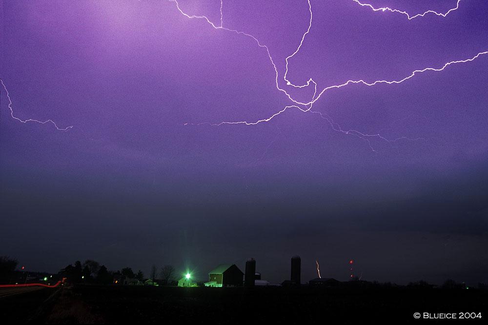 凌晨2点 那天风雨交加,电闪雷鸣,我和朋友 -blueice摄影作品 风雨