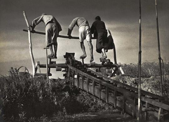 金石声作品  车水,1930年代