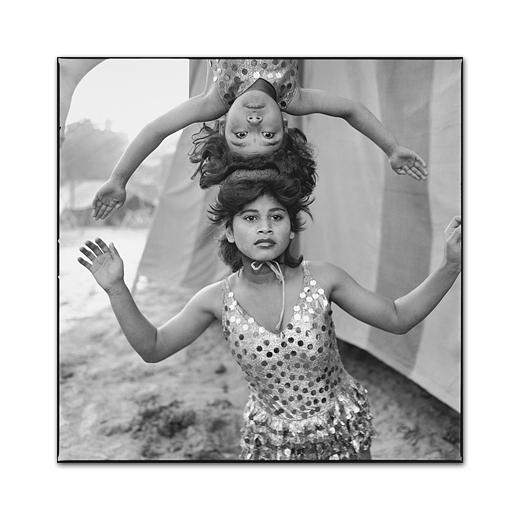 Acrobats Rehearsing Their Act at Great Golden Circus. Ahmedabad, 1989