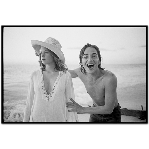 Melanie Griffith and Don Johnson together on the beach, Night Moves,Sanibel Island, Florida, 1973