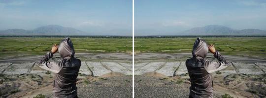 祁连山系 - 01 2011 彩色喷墨打印 单幅75 x 100cm (2幅)