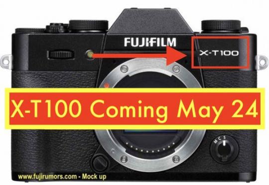 富士X-T100将于5月24日发布
